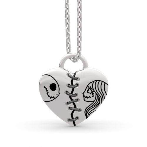 Jeulia Collier Jack Skellington et Sally en Argent Sterling