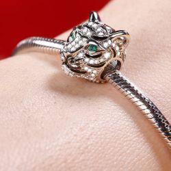 Charm Tigre Royal en Argent Sterling
