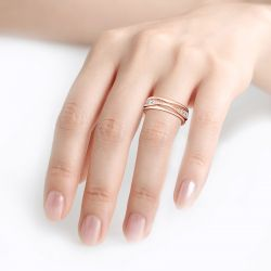Jeulia Alliance Simple Argent Sterling Coupe Ronde