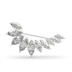 Jeulia Design Unique Broche en Argent Sterling Coupe Marquise