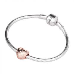 Charm Coeur Or Rose en Argent Sterling