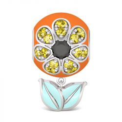 Charm Tournesol en Argent Sterling