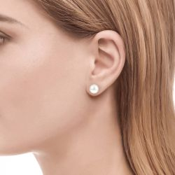 Jeulia Clous d'Oreilles Simple en Argent Sterling avec Perle de Culture
