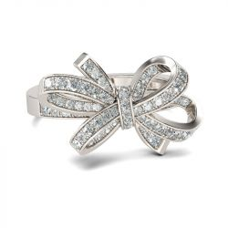Jeulia Bague Cocktail Noeud Papillon en Argent Sterling