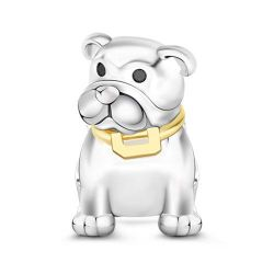 Charm Bouledogue en Argent Sterling