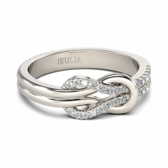 Jeulia Alliance Noeud Papillon en Argent Sterling
