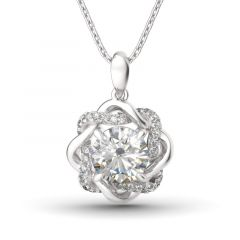 Jeulia Collier Noeud d'Amour en Argent Sterling