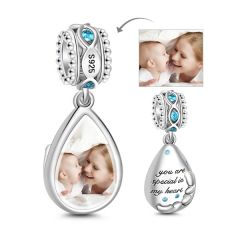 Charm Photo Larme en Argent Sterling
