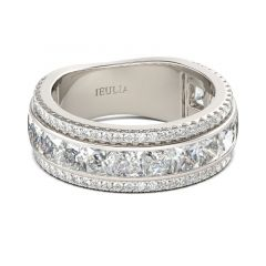 Jeulia Bague de Femme Simple en Argent Sterling Coupe Princesse