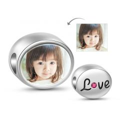 Charm Photo Amour en Argent Sterling